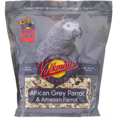 Volkman Seed Avian Science African Grey Parrot Beta Carotene Calcium Rich 4lbs ()