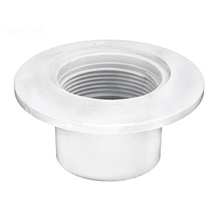 - 542423 2-Inch Slip Body Insider Wall Fittings for Schedule 40 PVC Gunite Concrete Pool Pipe, White, Slip body insider wall fitting By Pentair