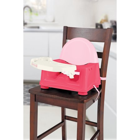 Safety 1st Easy Care Swing Tray Feeding Booster, Coral Crush