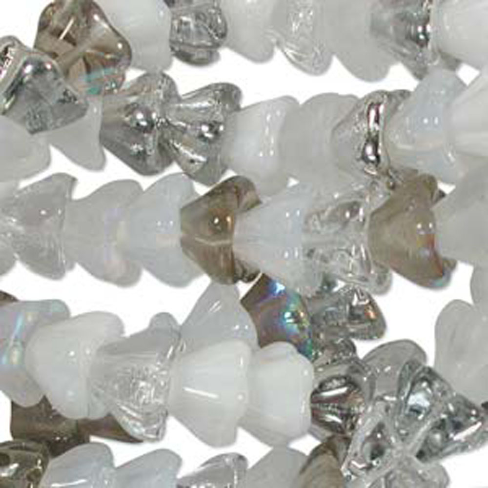 Apparition Mix 10x13mm Flower Cone 45 Bead Cap Czech Glass, Loose Beads,