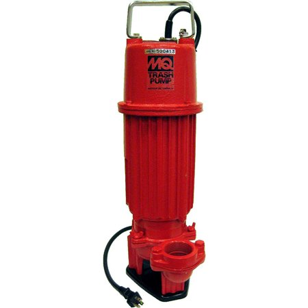 Multiquip St2010tcul Electric Submersible Trash Pump With Single Phase Motor  1 Hp  95 Gpm  2  Suction And Discharge