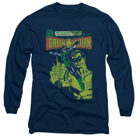 7b6e70cd11e DC Comics - Green Lantern Vintage Cover Mens Long Sleeve Shirt - Walmart.com