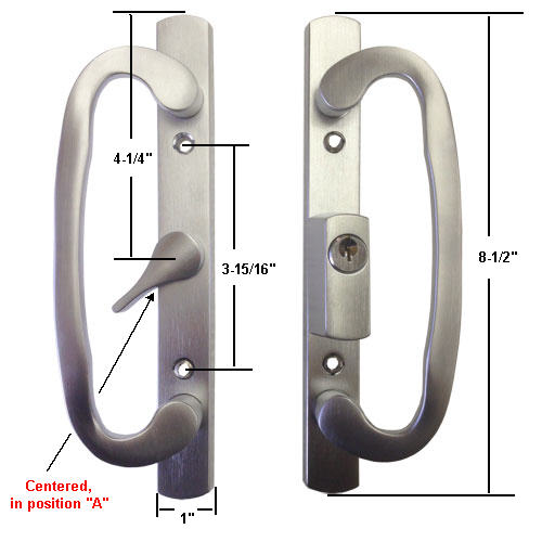 Sliding Glass Patio Door Handle Set Mortise Type A