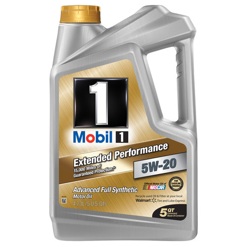 Mobil 1 5W-20 Extended Performance Full Synthetic Motor Oil, 5 qt.