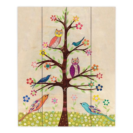 Own Plaque Kit (DiaNoche Designs Owl Bird Tree II by Sascalia Painting Print Plaque )