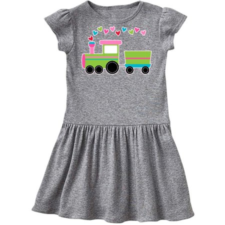 eefe60694 Inktastic - Valentine Love Heart Holiday Train Infant Dress - Walmart.com