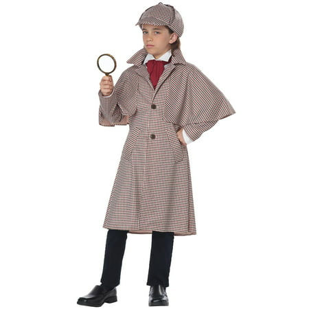 Child Famous Detective Sherlock Homes Costume (Famous Female Duos Costumes)
