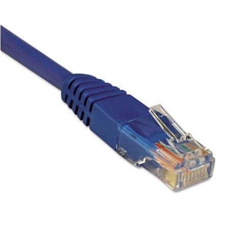 Tripp Lite 14ft Cat5e 350MHz Molded Patch Cable (RJ45 M/M) - Blue (Cat5e Rj 45 Shielded Connector)