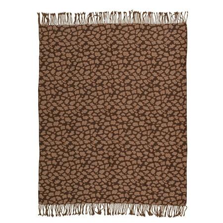Nourison Throw Brown/Beige Decorative Throw Blanket, 50