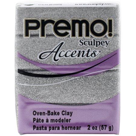 - Premo Sculpey Accents Polymer Clay 2oz-White Gold Glitter