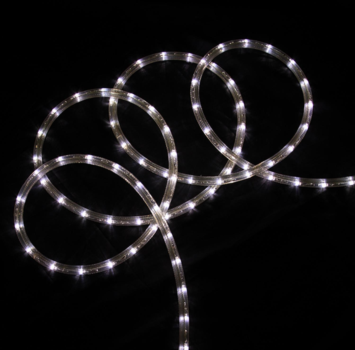 288' Commericial Grade Pure White LED Indoor/Outdoor Christmas Rope Lights on a Spool