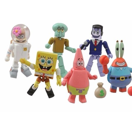 spongebob squarepants minimates patrick squidward mr krabs