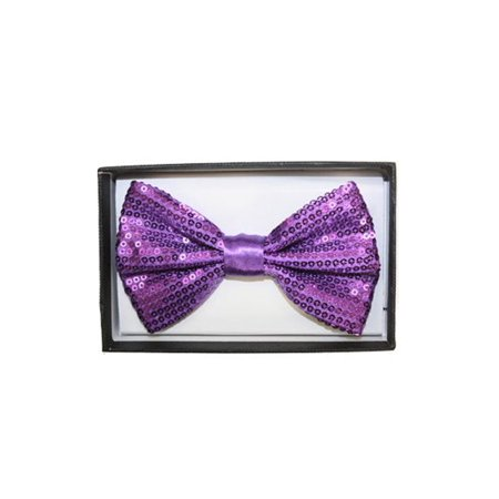 Mozlly Mozlly Glamorous Purple Sequin Bow Ties Adjustable Length Classic Tuxedo Crystal Glitter Sparkly Pre-tied Luxurious Bowtie Party Banquet Wedding Novelty Neckwear Clothing Accessories 3 Inch Fas - Sequin Tux