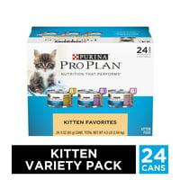 Purina Pro Plan Wet Kitten Food Variety Pack, FOCUS Kitten Favorites - (24) 3 oz. Cans