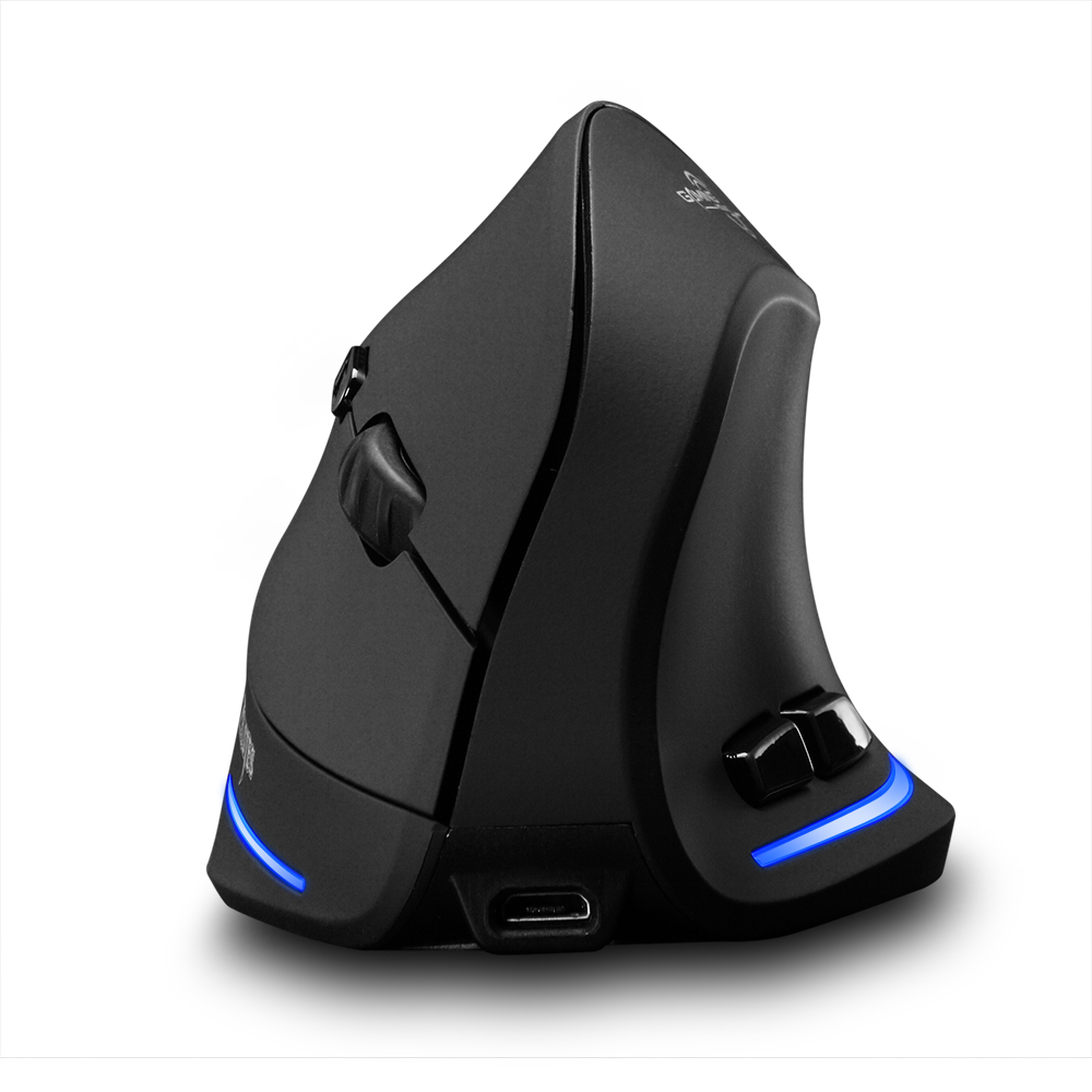 F-35 Mouse Wireless Vertical Mouse Ergonomic Rechargeable 2400 DPI Optional Portable Gaming Mouse for Mac Laptop PC Computer