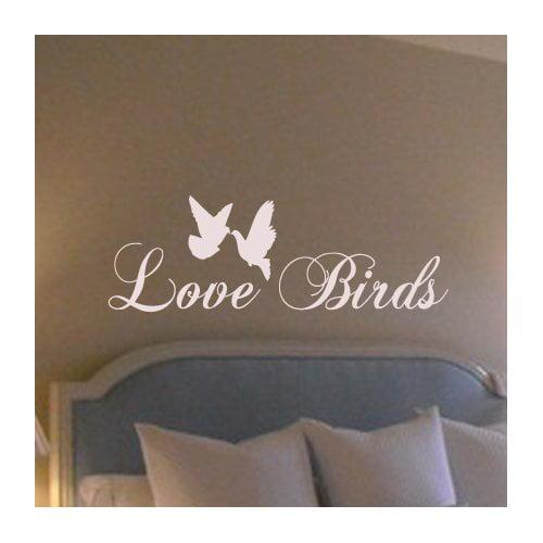 Fox Hill Trading Love Birds Vinyl Wall Decal