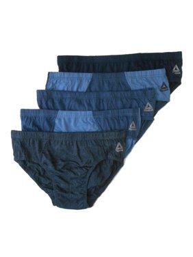 REEBOK MEN'S PACK 5 BRIEFS - 191 - P42 MULTI SEAM BLUE - LARGE - UNDERWEAR X5