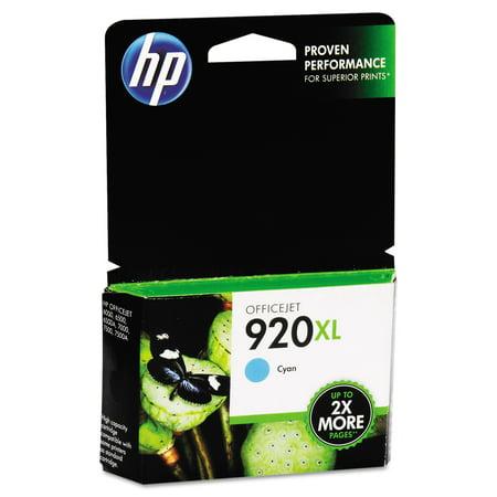 HP 920XL High Yield Cyan Original Ink Cartridge (CD972AN)