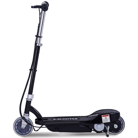 Gymax Rechargeable Electric Scooter 24 Volt Motorized Ride On Outdoor For Teens Black - image 7 de 10