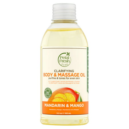 Petal Fresh Pure Mandarin & Mango Clarifying Body & Massage Oil, 5.5