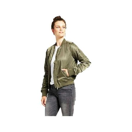Xhilaration Junior Women Full Zip Bomber Jacket W Colored (Best Low Cost Dslr)
