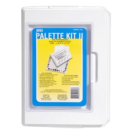 Jones Palette Kit with Cover - 20 Paint Wells, 2 Mixing Areas - 10 x 13.5 in (Paint Palate)