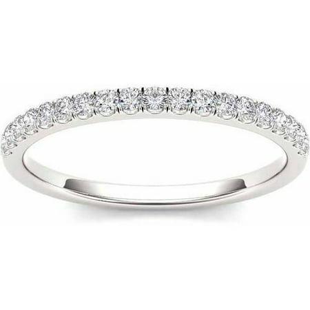 1/4 Carat T.W. Diamond 14kt White Gold Wedding Band