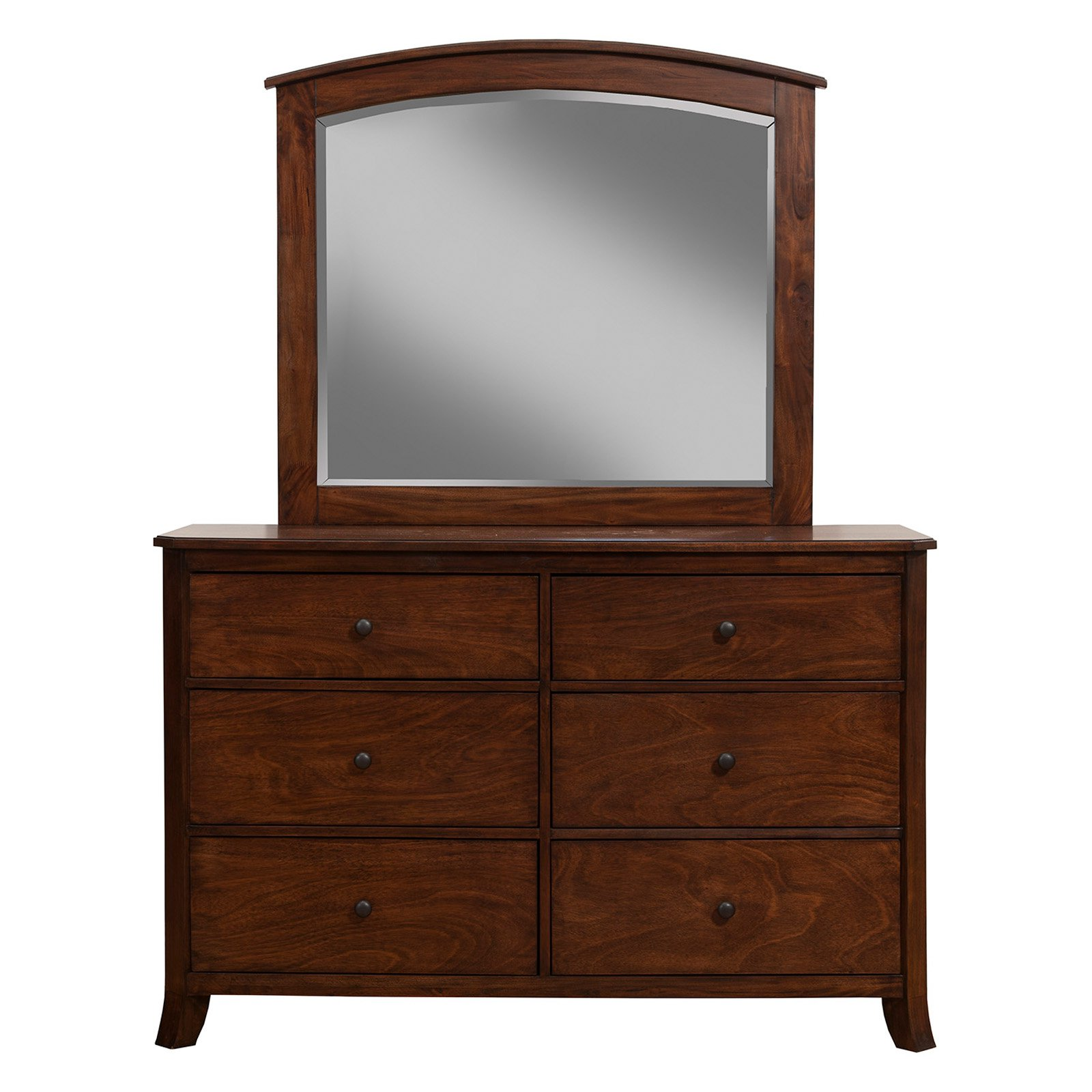 Alpine Furniture Baker 6 Drawer Dresser with Optional Mirror