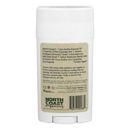 North Coast Org - Deod Coconut 2.5 oz