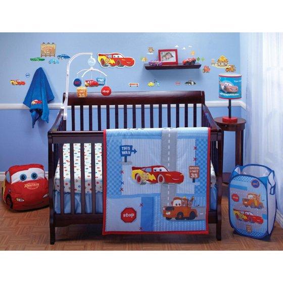 "Disney Car's ""Little Racer"" Four Piece Crib Bedding Set"