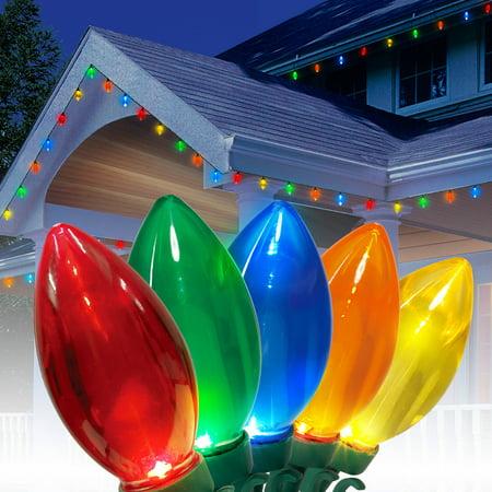 holiday time ultra bright led c9 christmas lights multi color 25. Black Bedroom Furniture Sets. Home Design Ideas