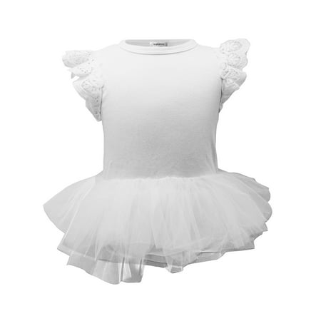 Baby Girl Princess (StylesILove Baby Girl Princess Ballet Romper with Tutu Skirt (90/12-18 Months,)