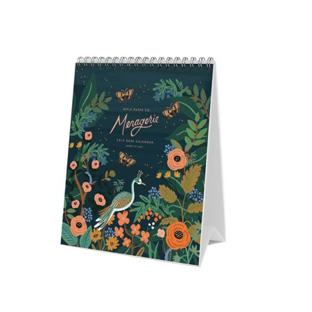 2019 Midnight Menagerie Easel 2019 Wall Calendar, by Rifle Paper Co.