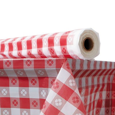 Plastic Table Cover 40 Quot X 300 Ft Roll Red Gingham