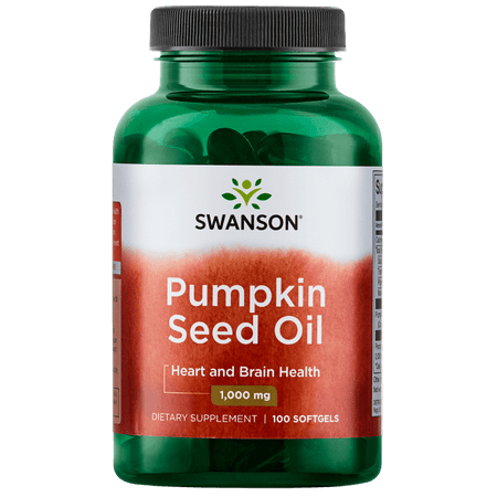 Swanson Pumpkin Seed Oil Softgels, 1,000 mg, 100 Ct ()