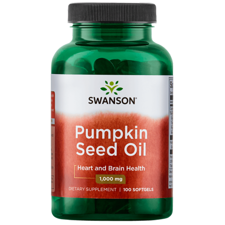 Swanson Pumpkin Seed Oil Softgels, 1,000 mg, 100 Ct