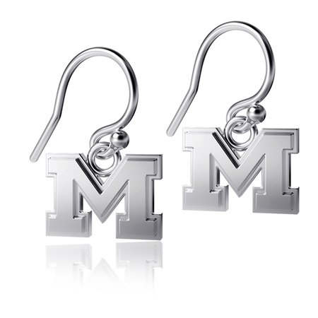 Michigan Wolverines Dayna Designs Silver Dangle Earrings - No Size Silver Michigan Quarters