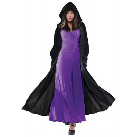 Renaissance Cape Adult Costume Accessory - Black Cape Costume