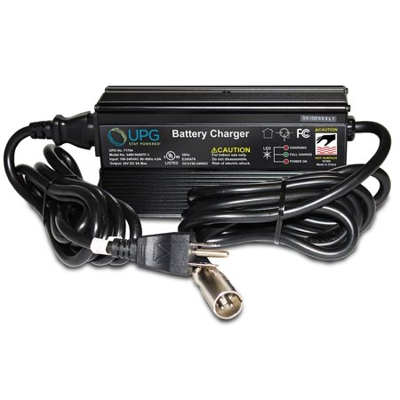 (24V 5Amp Jazzy 1107,1121, 1121 HD, 614, 614 HD 3 Stage XLR Scooter Charger)