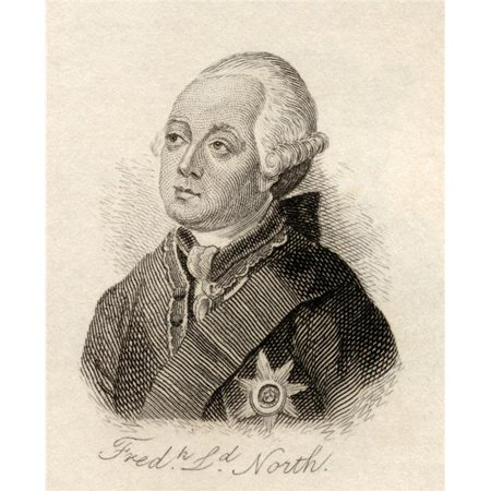 Posterazzi DPI1855642LARGE Frederick North 2Nd Earl of Guilford Lord North 1732 1792 Prime Minister of Great Britain & Leading Figure In The Am Poster Print, Large - 26 x 32 - image 1 de 1
