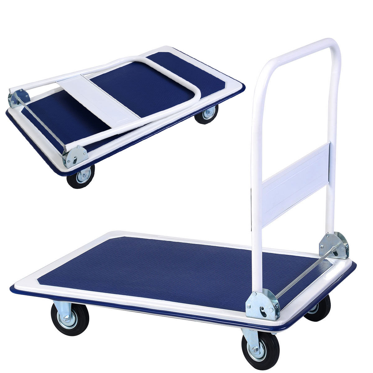 Costway 660lbs Platform Cart Dolly Folding Foldable Moving Warehouse Push Hand Truck