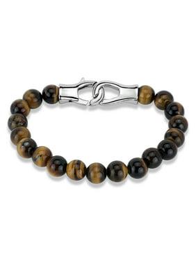 Tiger's Eye Stainless Steel 316L Men's Beaded Bracelet