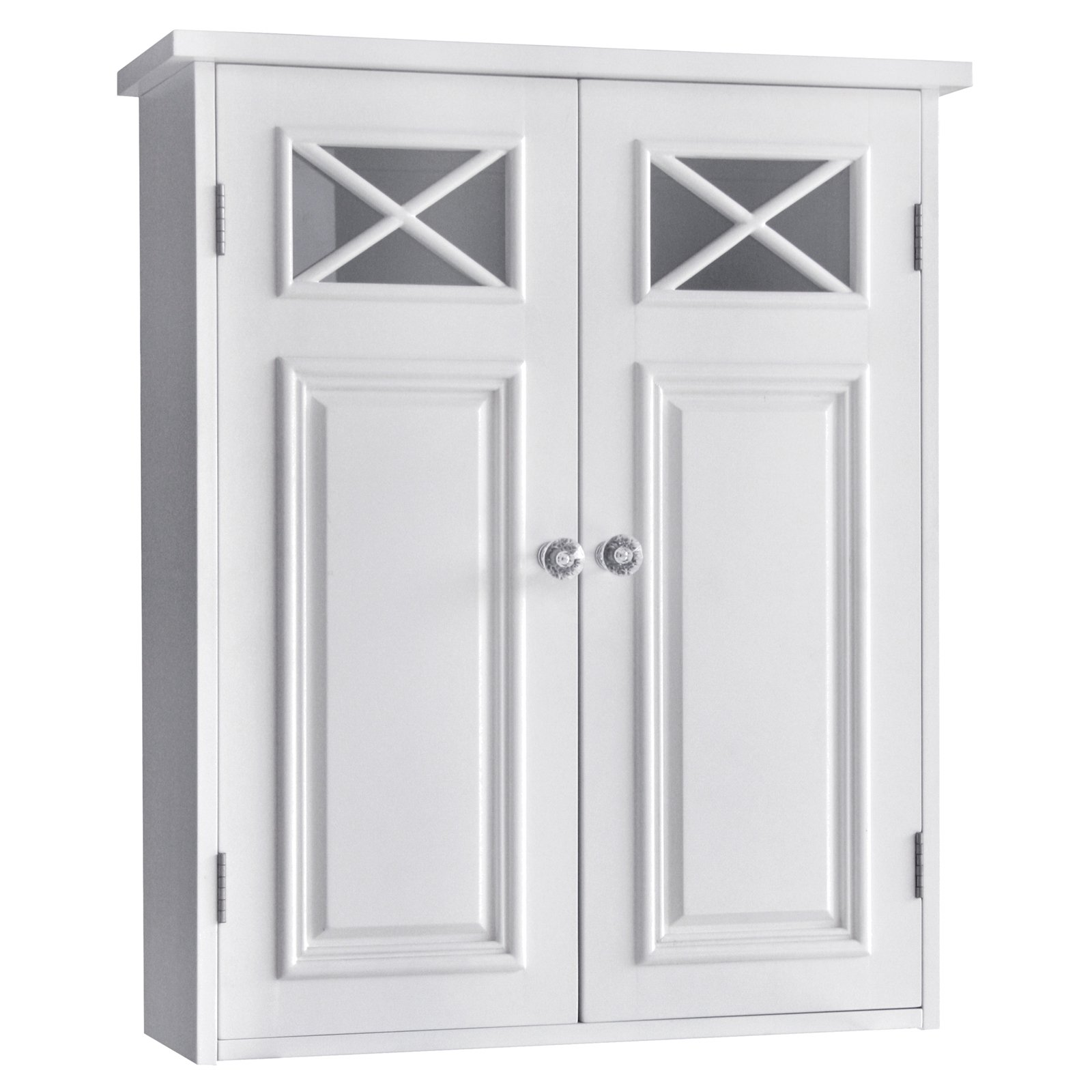 Dawson Wall Cabinet with Two Doors and Shelves Walmart