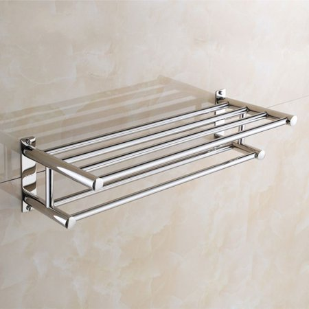 Bathroom Double Towel Rail Rack 304 Stainless Steel Wall Mounted