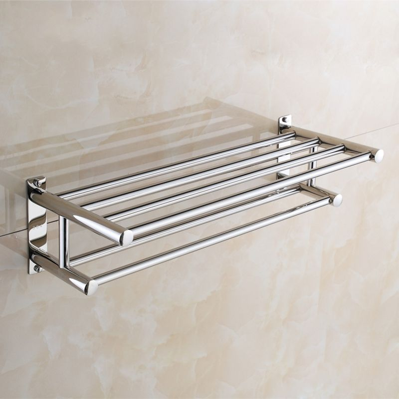 Stainless Steel Towel Rack Holder Wall Mounted Bathroom Shelf Kitchen Hanging