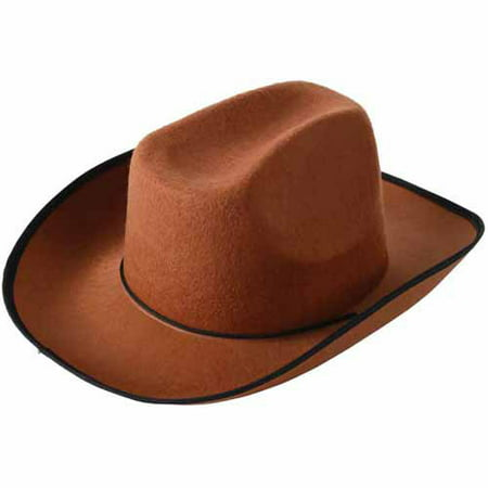 School Sprit Felt Cowboy Hat, Brown - Inflatable Cowboy Hat
