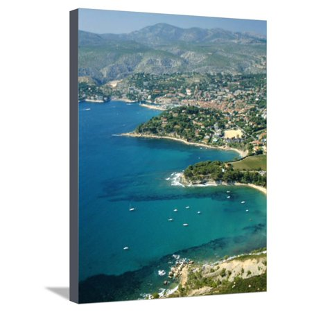 Cassis, Bouches Du Rhone, Cotes Des Calanques, Mediterranean Coast, Provence, France Stretched Canvas Print Wall Art By David