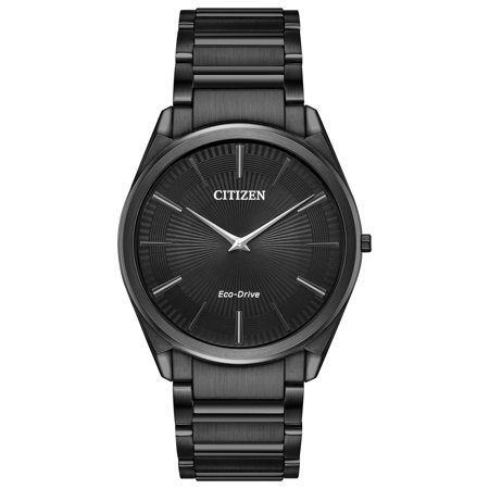 Eco-drive Stiletto Black Stainless Steel Mens Watch Ar3075-51e