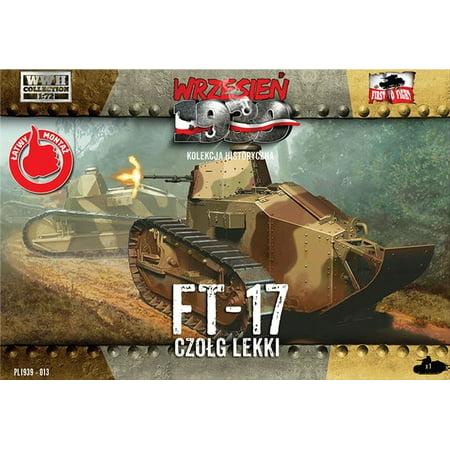1/72 WWII FT17 Light Tank w/Octagonal Turret & Machine Gun - image 1 de 1