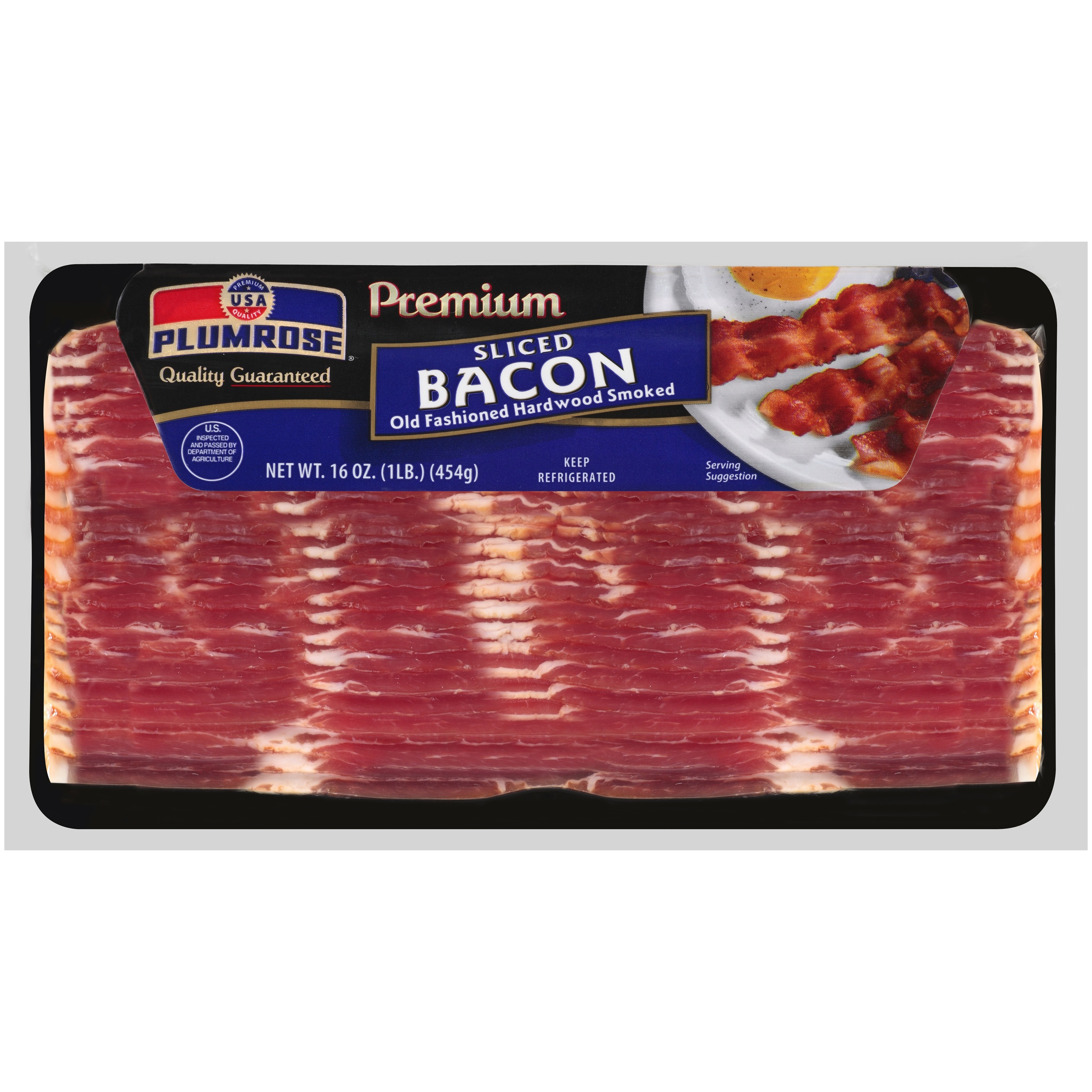 Plumrose® Premium Hardwood Smoked Sliced Bacon 16 oz. Package